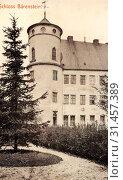Schloss Bärenstein, 1907, Landkreis Sächsische Schweiz-Osterzgebirge, Bärenstein, Schloß, Germany (2019 год). Редакционное фото, фотограф Liszt Collection / age Fotostock / Фотобанк Лори