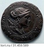 Tetradrachm, 158-149 BC. Greece, Macedonia, 2nd century BC. Silver, diameter: 3.2 cm (1 1/4 in.). (2019 год). Редакционное фото, фотограф Liszt Collection / age Fotostock / Фотобанк Лори