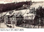 Купить «Hotels in Saxony, Winter in Landkreis Sächsische Schweiz-Osterzgebirge, Sledding in Germany, Horse-drawn sleighs in Germany, Buildings in Landkreis Sächsische...», фото № 31467405, снято 24 января 2019 г. (c) age Fotostock / Фотобанк Лори