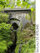 Купить «Devils Bridge, Pontarfynach, Wales.», фото № 31470845, снято 4 апреля 2020 г. (c) age Fotostock / Фотобанк Лори