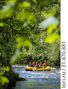 Купить «White water rafting at the National White Water Centre on the River Tryweryn, near Bala, Wales.», фото № 31470881, снято 8 декабря 2019 г. (c) age Fotostock / Фотобанк Лори