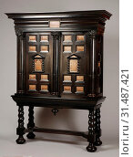 Ebony art cabinet with inlaid rectangles landscape marble, art cabinet cabinet cupboard cabinet furniture furniture interior design wood ebony oak marble... (2018 год). Редакционное фото, фотограф Copyright Liszt Collection / age Fotostock / Фотобанк Лори