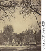 Alameda de Mexico, Views of Mexico City and environs, Charnay, Désiré, 1828-1915, Albumen, 1858, Title from caption written on mount. View of the central park in Mexico City on Avenida Juárez. (2018 год). Редакционное фото, фотограф © Liszt Collection / age Fotostock / Фотобанк Лори