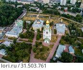 Купить «Москва, Рогожский старообрядческий посёлок, вид сверху», фото № 31503761, снято 24 июня 2019 г. (c) glokaya_kuzdra / Фотобанк Лори