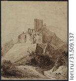Купить «Ruins of Chateau d'Arque, 1819. Isidore Justin Taylor (French, 1789-1879). Pen and brown ink, brush and brown wash over black chalk on laid paper, sheet: 21.5 x 18.3 cm (8 7/16 x 7 3/16 in.).», фото № 31509137, снято 13 февраля 2019 г. (c) age Fotostock / Фотобанк Лори