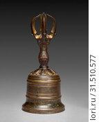 Купить «Five-pronged Vajra Bell (Gokorei), c. 1300-1333. Japan, Kamakura period (1185-1333). Gilt bronze, height: 16.7 cm (6 9/16 in.), diameter: 7.5 cm (2 15/16 in.).», фото № 31510577, снято 13 февраля 2019 г. (c) age Fotostock / Фотобанк Лори