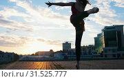 Купить «Young attractive woman in pointe goes and dances ballet on the streets», видеоролик № 31525777, снято 27 мая 2020 г. (c) Константин Шишкин / Фотобанк Лори