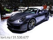 Купить «Porsche 911», фото № 31530677, снято 10 марта 2019 г. (c) Art Konovalov / Фотобанк Лори