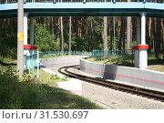 Детская железная дорога. Стоковое фото, фотограф Андрей Чабан / Фотобанк Лори