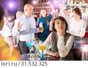 Купить «Sad woman at office party», фото № 31532325, снято 25 марта 2019 г. (c) Яков Филимонов / Фотобанк Лори