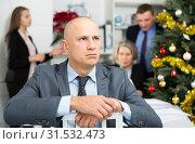 Купить «Business team tensely solving problems in office with offended man foreground», фото № 31532473, снято 14 января 2019 г. (c) Яков Филимонов / Фотобанк Лори