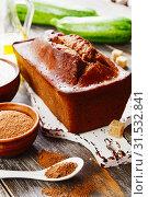 Купить «Zucchini cake with cocoa powder», фото № 31532841, снято 11 июля 2019 г. (c) Надежда Мишкова / Фотобанк Лори