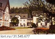 Buildings in Landkreis Sächsische Schweiz-Osterzgebirge, Schmiedeberg (Erzgebirge), 1917, Landkreis Sächsische Schweiz-Osterzgebirge, Schmiedeberg, Buschmühle... (2019 год). Редакционное фото, фотограф Copyright Liszt Collection / age Fotostock / Фотобанк Лори