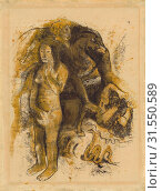 Купить «Eve ['The Nightmare'] (recto), Eve ['The Nightmare'] (verso), Paul Gauguin, French, 1848 - 1903, Tahiti, South Pacific, Oceania, about 1899 - 1900, Black...», фото № 31550589, снято 3 октября 2013 г. (c) age Fotostock / Фотобанк Лори