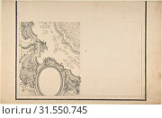 Купить «Design for 1/4 of a Ceiling, and Ornamentation of a Section of a Vault, 1700–1780, Pen and black ink, brush and gray wash, over lead point or graphite...», фото № 31550745, снято 21 мая 2017 г. (c) age Fotostock / Фотобанк Лори