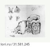 Купить «ShÅjÅ, Edo period (1615–1868), 18th–19th century, Japan, Ink and color on paper, 9 5/8 x 12 3/8 in. (24.4 x 31.4 cm), Paintings, Attributed to Katsushika...», фото № 31581245, снято 17 июня 2017 г. (c) age Fotostock / Фотобанк Лори