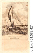 Купить «Charles Meryon (French, 1821 - 1868). Swift-Sailing Proa, Mulgrave Archipelago, Oceania (Prô-Volant des Îles Mulgraves: Océanie), 1866. Etching.», фото № 31582421, снято 11 июля 2013 г. (c) age Fotostock / Фотобанк Лори
