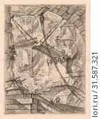 Купить «The Prisons: An Immense Interior with a Drawbridge, 1745-1750. Giovanni Battista Piranesi (Italian, 1720-1778). Etching», фото № 31587321, снято 14 февраля 2019 г. (c) age Fotostock / Фотобанк Лори