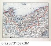 Купить «MAP OF POMMERN, MECKLENBURG-VORPOMMERN (GERMANY) AND NORTH WEST POLAND, 1899», фото № 31587361, снято 3 января 2013 г. (c) age Fotostock / Фотобанк Лори