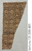 Купить «Lampas with animals in squares, late 1200s - 1300s. Probably Iran. Lampas and taqueté: silk and metal thread, overall: 23.2 x 10.7 cm (9 1/8 x 4 3/16 in.).», фото № 31599481, снято 14 февраля 2019 г. (c) age Fotostock / Фотобанк Лори