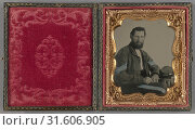 Portrait of a Confederate soldier, American, about 1862, Ambrotype, hand-colored, (2018 год). Редакционное фото, фотограф © Liszt Collection / age Fotostock / Фотобанк Лори