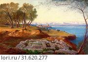 Купить «Corfu from Ascension signed, Edward Lear, 1812-1888, British», фото № 31620277, снято 7 августа 2014 г. (c) age Fotostock / Фотобанк Лори