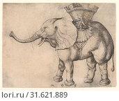 Купить «The Elephant, 15th century, Engraving, sheet 104 x 140 mm, Prints, Martin Schongauer (German, Colmar ca. 1435/50–1491 Breisach)», фото № 31621889, снято 21 мая 2017 г. (c) age Fotostock / Фотобанк Лори