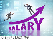 Купить «Concept of increasing salary with businessman», фото № 31624709, снято 13 декабря 2019 г. (c) Elnur / Фотобанк Лори