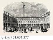 Купить «Sir Thomas Gresham's Exchange, London, England, engraving 19th century, Britain, UK.», фото № 31631377, снято 28 мая 2012 г. (c) age Fotostock / Фотобанк Лори
