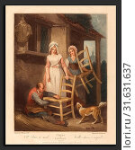 Giovanni Vendramini after Francis Wheatley (British, 1769 - 1839), Old Chairs to Mend, published 1795, color stipple engraving (2010 год). Редакционное фото, фотограф Artokoloro / age Fotostock / Фотобанк Лори