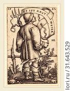 Купить «Sebald Beham (German, 1500-1550), The Weather Peasant: 'Es ist Kalt Weter', 1542, engraving on laid paper», фото № 31643529, снято 5 августа 2014 г. (c) age Fotostock / Фотобанк Лори