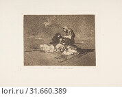 Plate 59 from 'The Disasters of War' (Los Desastres de la Guerra): 'What is the use of a cup?' ( De qué sirve una taza?), 1811–12 (published 1863),... (2017 год). Редакционное фото, фотограф © Copyright Artokoloro Quint Lox Limited / age Fotostock / Фотобанк Лори