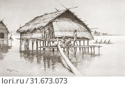 Купить «A marine village of Tupuselei, New Guinea. After a work by J. Macfarlane. From a contemporary print c. 1935.», фото № 31673073, снято 22 мая 2019 г. (c) age Fotostock / Фотобанк Лори