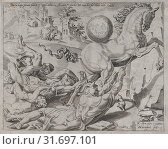 The World Carrying Away Knowledge and Love, from The Unrestrained World, plate 3, 1550, Etching and Engraving, second state of two (New Hollstein), Plate... (2017 год). Редакционное фото, фотограф © Copyright Artokoloro Quint Lox Limited / age Fotostock / Фотобанк Лори