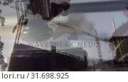 Купить «Digital animation of buildings under construction 4k», видеоролик № 31698925, снято 26 октября 2018 г. (c) Wavebreak Media / Фотобанк Лори