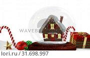 Купить «Cute Christmas animation of snow house and Christmas gift on snowy landscape 4k», видеоролик № 31698997, снято 26 октября 2018 г. (c) Wavebreak Media / Фотобанк Лори