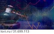 Купить «Conceptual digital animation showing business graph 4k», видеоролик № 31699113, снято 26 октября 2018 г. (c) Wavebreak Media / Фотобанк Лори