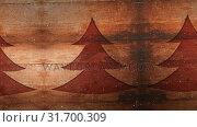 Купить «Video composition with snow over pine tree on wood», видеоролик № 31700309, снято 2 ноября 2018 г. (c) Wavebreak Media / Фотобанк Лори