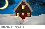 Купить «Video composition with snow over winter scenery at night», видеоролик № 31700313, снято 2 ноября 2018 г. (c) Wavebreak Media / Фотобанк Лори