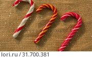 Купить «Falling snow with Christmas candy decoration», видеоролик № 31700381, снято 2 ноября 2018 г. (c) Wavebreak Media / Фотобанк Лори