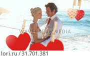 Купить «Wedding of young couple on beach», видеоролик № 31701381, снято 6 ноября 2018 г. (c) Wavebreak Media / Фотобанк Лори