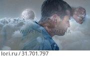 Depressed man leaning his head on the wall 4k. Стоковое видео, агентство Wavebreak Media / Фотобанк Лори