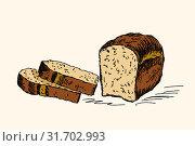 Bread and wheat. Стоковая иллюстрация, иллюстратор Михаил Гойко / Фотобанк Лори