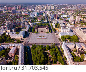 Купить «Aerial view of Voronezh», фото № 31703545, снято 5 мая 2019 г. (c) Яков Филимонов / Фотобанк Лори