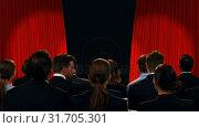 Купить «Business people watching a stage», видеоролик № 31705301, снято 27 марта 2019 г. (c) Wavebreak Media / Фотобанк Лори