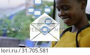 Купить «African-american boy texting 4k», видеоролик № 31705581, снято 17 апреля 2019 г. (c) Wavebreak Media / Фотобанк Лори