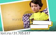 Купить «Boy opening his shirt», видеоролик № 31705617, снято 25 апреля 2019 г. (c) Wavebreak Media / Фотобанк Лори