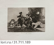 Disasters of War: There isn't Time Now, 1810-20. Francisco de Goya (Spanish, 1746-1828). Etching, drypoint, lavis, and engraving, sheet: 24.1 x 33.3 cm... (2019 год). Редакционное фото, фотограф Liszt Collection / age Fotostock / Фотобанк Лори