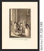 Купить «Noël Le Mire after Jean-Michel Moreau (French, 1724 - 1801), Il en est nâvré, je l'entraine avec peine, 1779, etching and engraving», фото № 31729189, снято 28 мая 2010 г. (c) age Fotostock / Фотобанк Лори