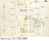 Купить «Plate 110: Map bounded by East 62nd Street, Second Avenue, East 57th Street, Fourth Avenue. 1857, 1862, Perris and Browne, New York, USA.», фото № 31735389, снято 10 августа 2014 г. (c) age Fotostock / Фотобанк Лори